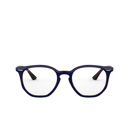 Ray-Ban® Eyeglasses: Hexagonal RX7151 color Top Blue On Havana Red 5910.
