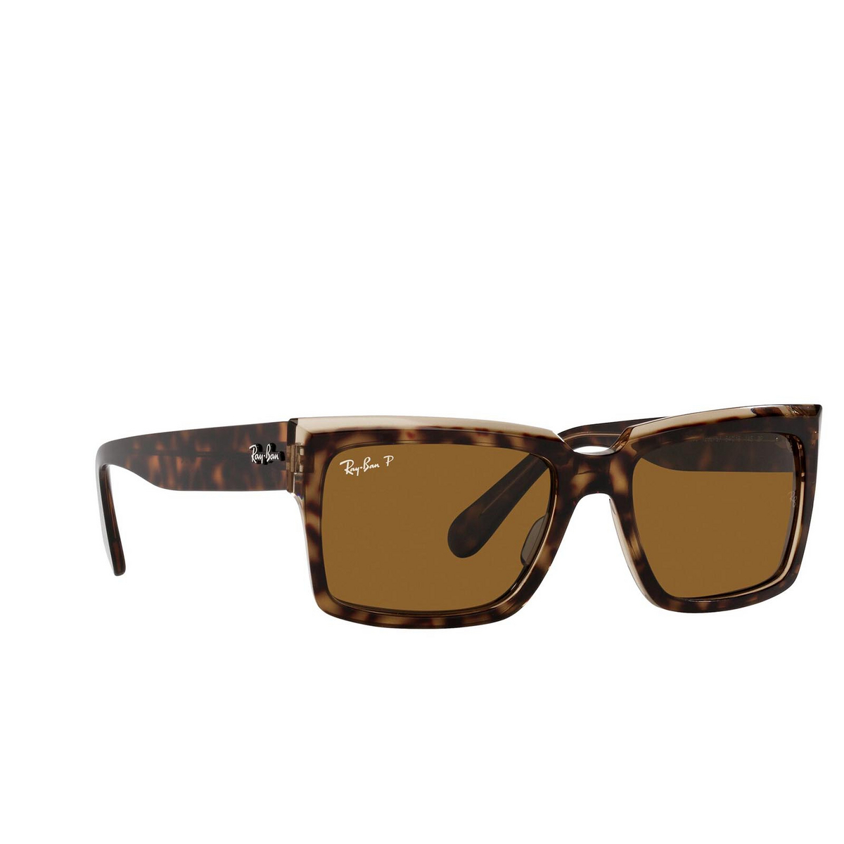 Ray-Ban® Square Sunglasses: Inverness RB2191 color Havana On Transparent Brown 129257.