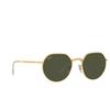 Ray-Ban® Irregular Sunglasses: Jack RB3565 color Legend Gold 919631 - product thumbnail 2/3.