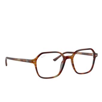 Ray-Ban® Square Eyeglasses: John RX5394 color Striped Havana 2144.