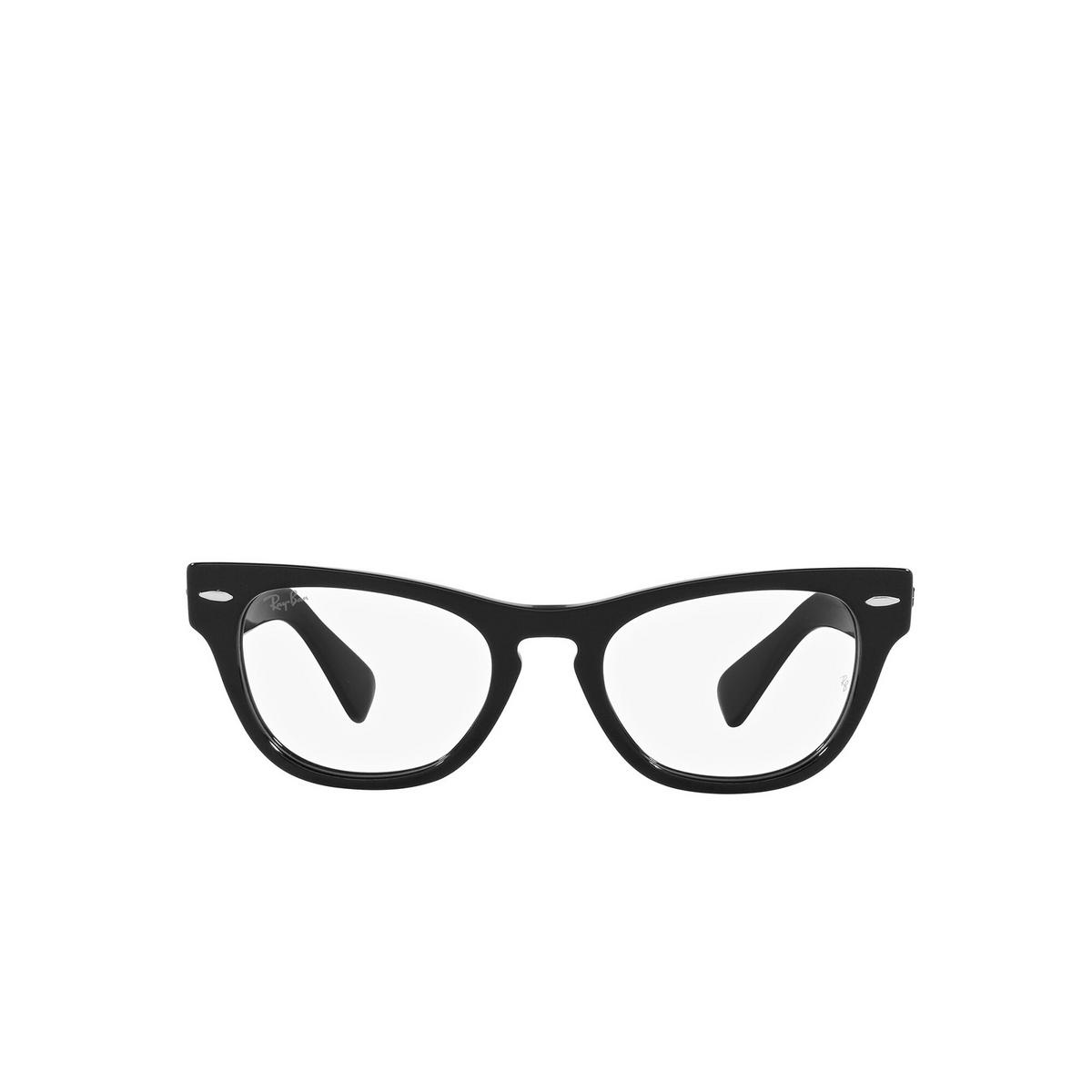 Ray-Ban® Cat-eye Eyeglasses: Laramie RX2201V color Black 2000 - front view.