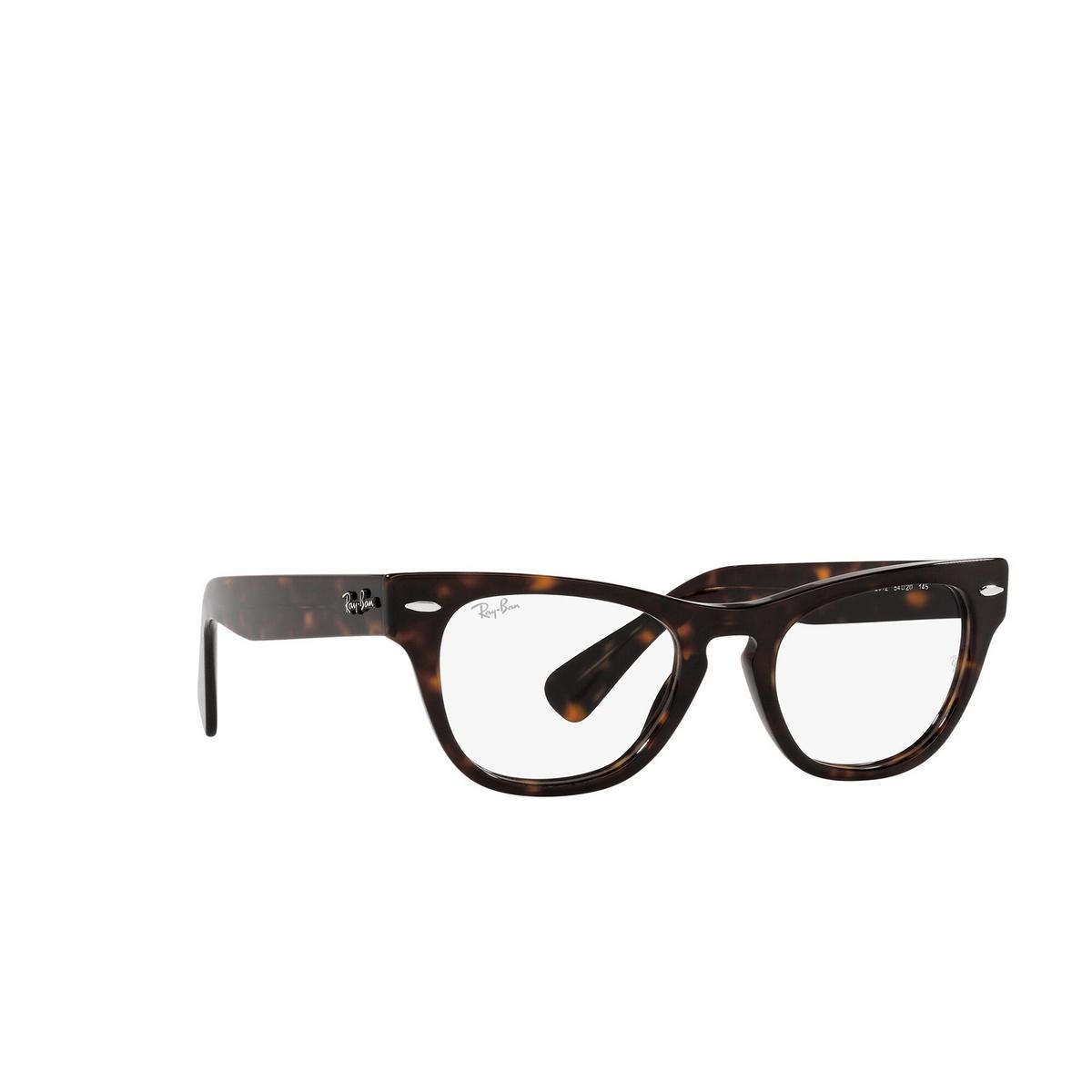Ray-Ban® Square Eyeglasses: Laramie RX2201V color Havana 2012 - three-quarters view.
