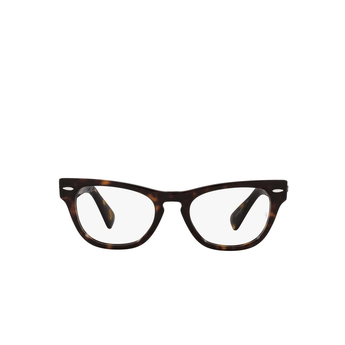 Ray-Ban® Square Eyeglasses: Laramie RX2201V color Havana 2012 - front view.