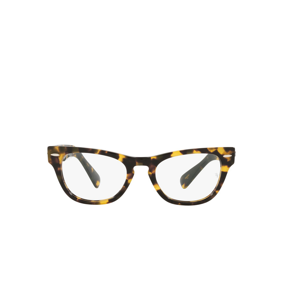 Ray-Ban® Cat-eye Eyeglasses: Laramie RX2201V color Yellow Havana 8116 - front view.