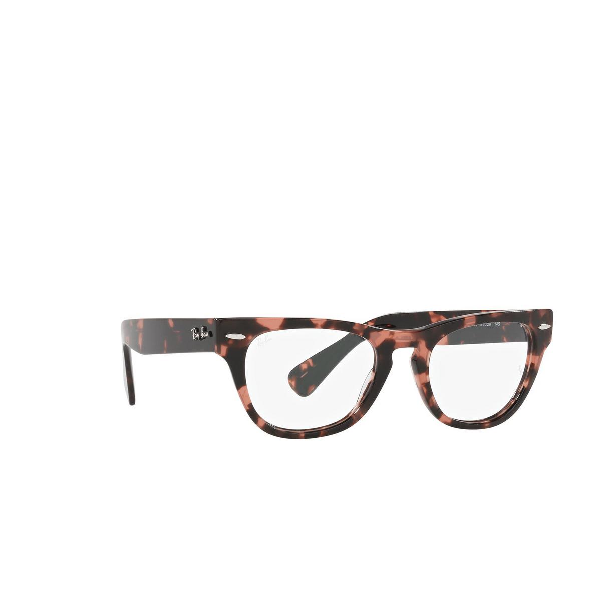 Ray-Ban® Cat-eye Eyeglasses: Laramie RX2201V color Pink Havana 8118 - three-quarters view.