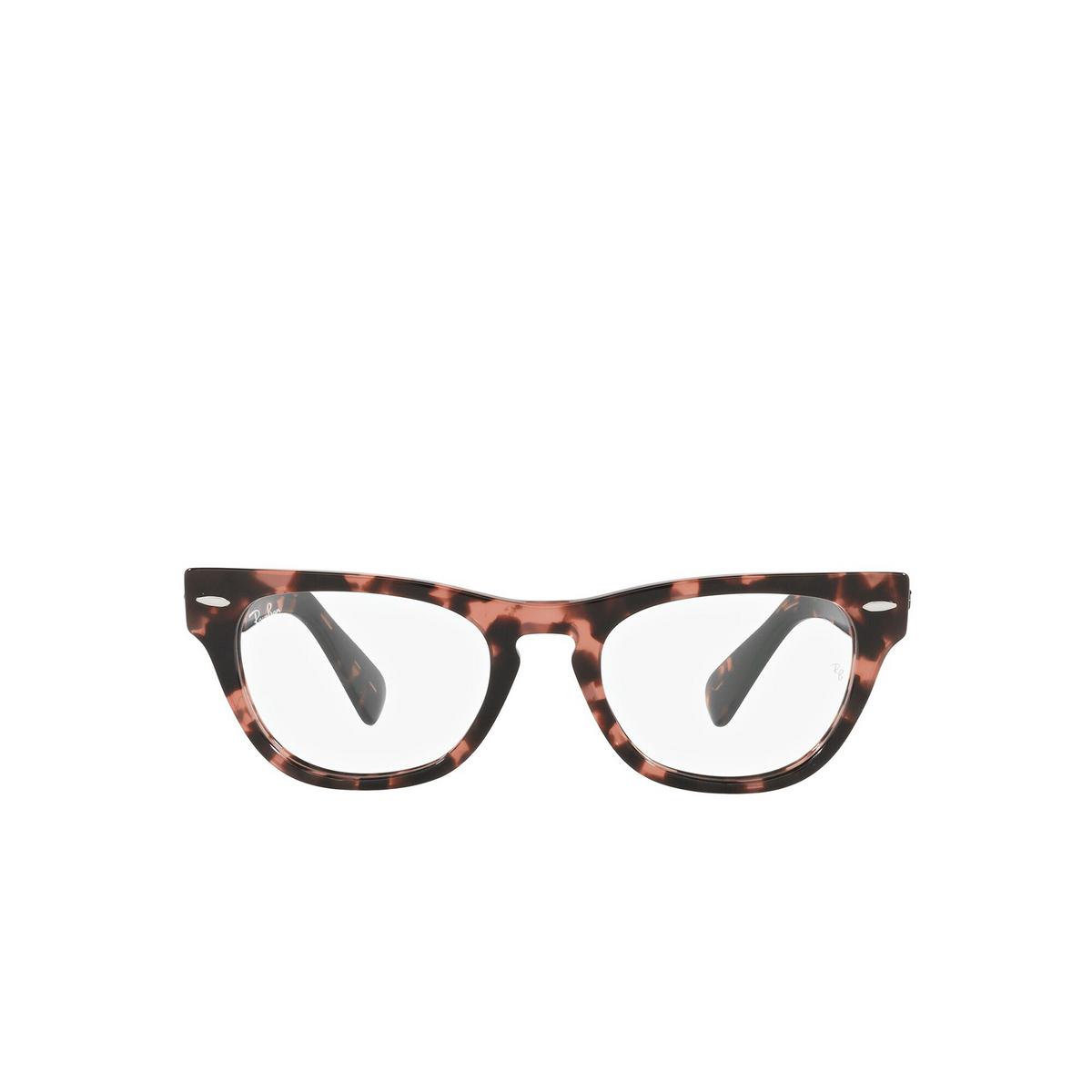 Ray-Ban® Cat-eye Eyeglasses: Laramie RX2201V color Pink Havana 8118 - front view.