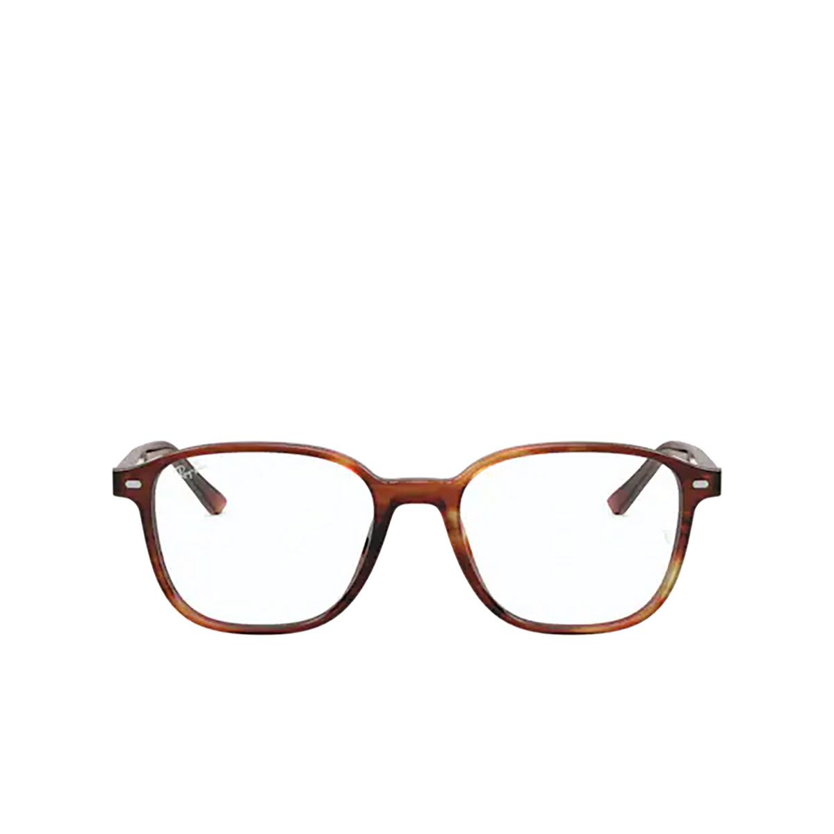Ray-Ban® Square Eyeglasses: Leonard RX5393 color Striped Havana 2144.