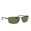 Ray-Ban® Rectangle Sunglasses: N/a RB3498 color Black 002/9A - product thumbnail 2/3.