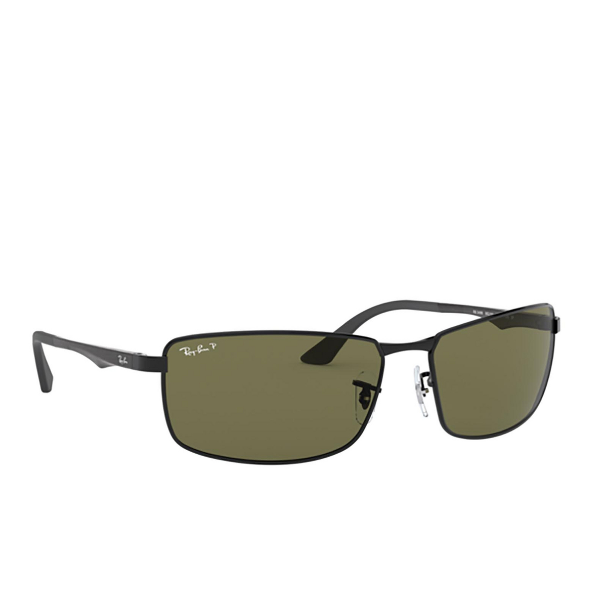 Ray-Ban® Rectangle Sunglasses: N/a RB3498 color Black 002/9A - 2/3.