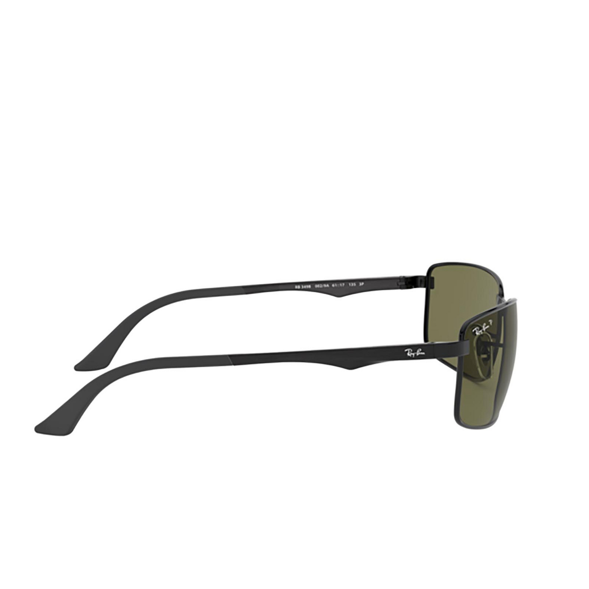 Ray-Ban® Rectangle Sunglasses: N/a RB3498 color Black 002/9A - 3/3.