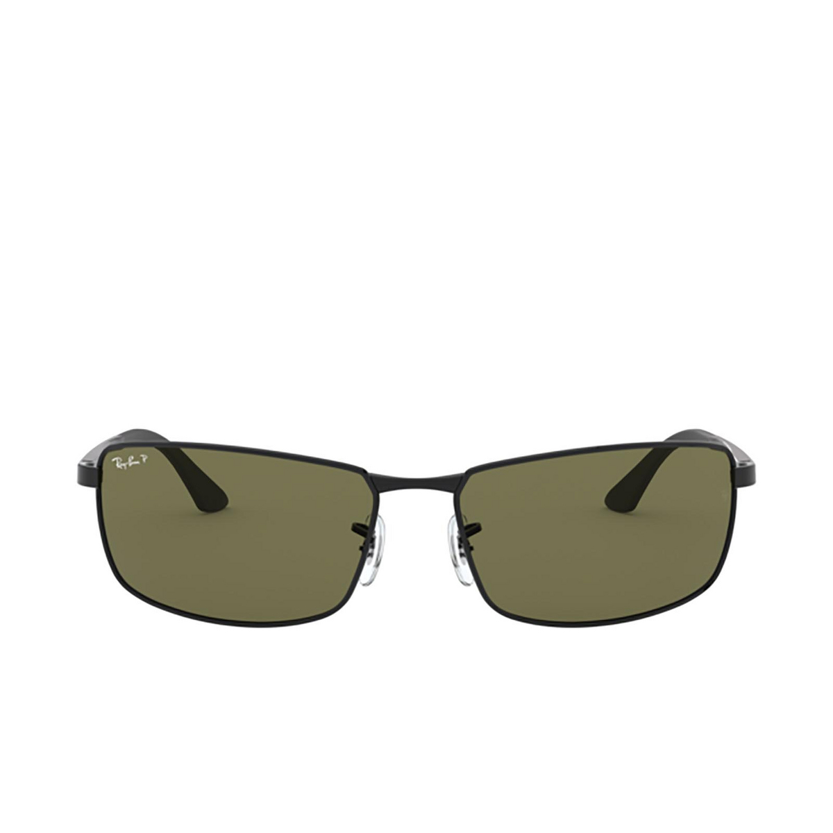 Ray-Ban® Rectangle Sunglasses: N/a RB3498 color Black 002/9A - 1/3.