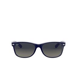 Ray-Ban® Square Sunglasses: New Wayfarer RB2132 color Matte Blue On Transparent 605371.