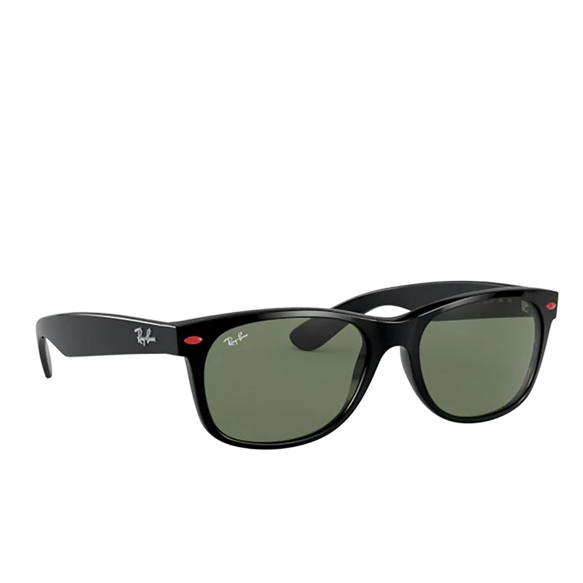 Ray-Ban® Square Sunglasses: New Wayfarer RB2132M color Black F60131 - 2/3.