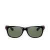 Ray-Ban® Square Sunglasses: New Wayfarer RB2132M color Black F60131 - product thumbnail 1/3.