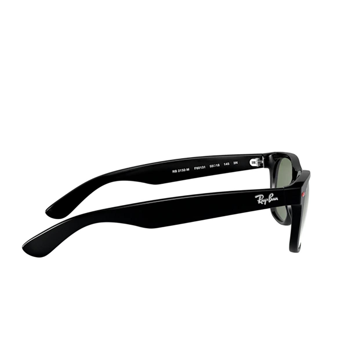 Ray-Ban® Square Sunglasses: New Wayfarer RB2132M color Black F60131 - 3/3.
