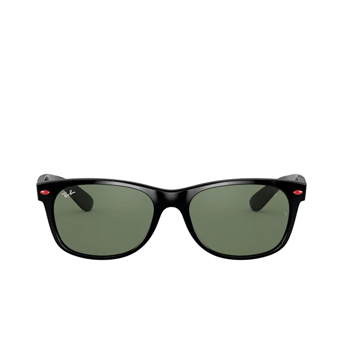 Ray-Ban® Square Sunglasses: New Wayfarer RB2132M color Black F60131 - 1/3.