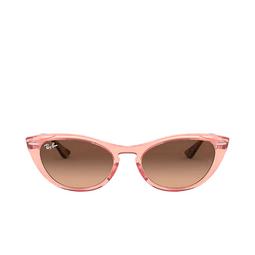 Ray-Ban® Cat-eye Sunglasses: Nina RB4314N color Transparent Pink 1282A5.