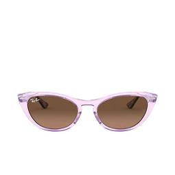 Ray-Ban® Sunglasses: Nina RB4314N color Transparent Violet 128443.