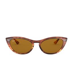 Ray-Ban® Cat-eye Sunglasses: Nina RB4314N color Striped Havana 954/33.