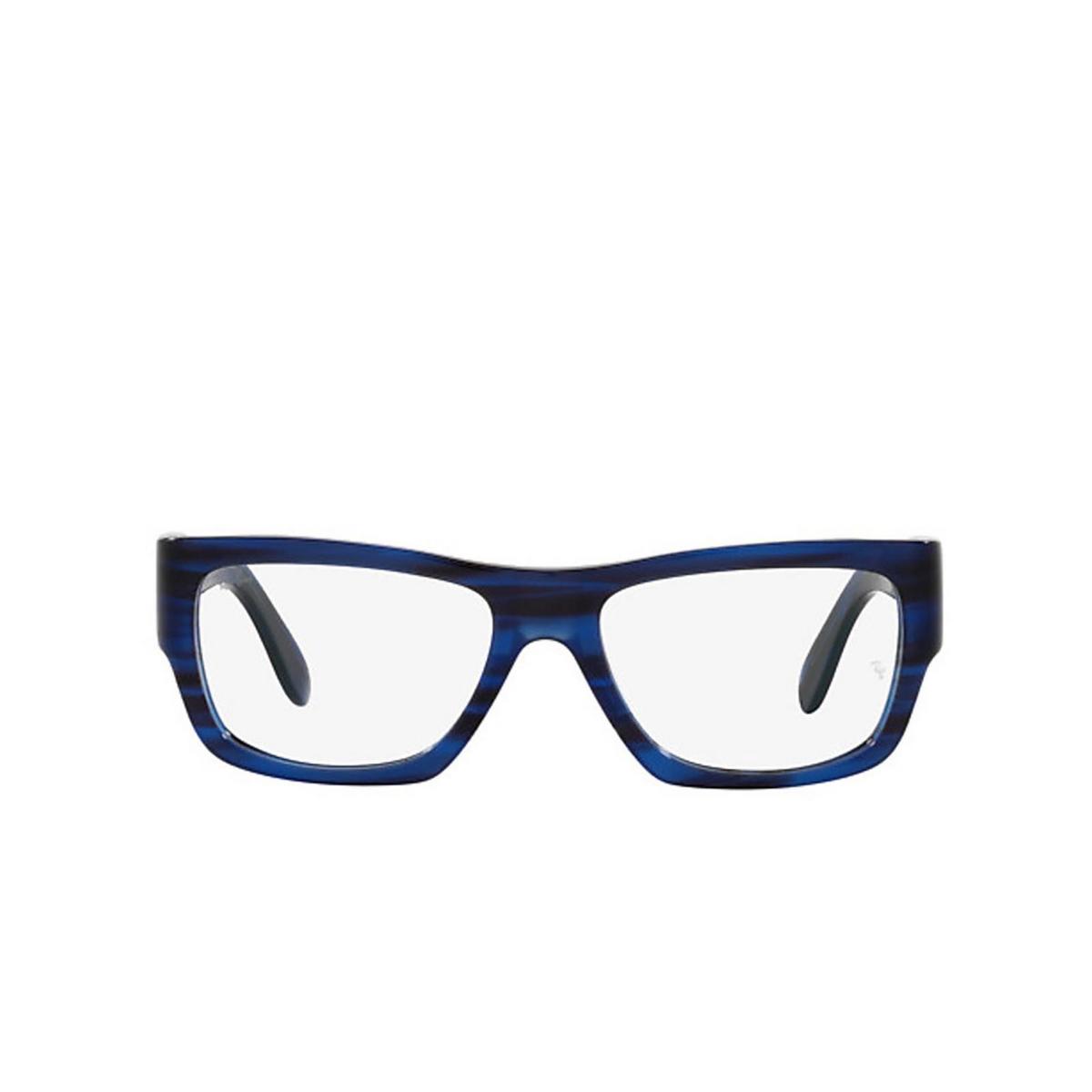 Ray-Ban® Square Eyeglasses: Nomad Wayfarer RX5487 color Striped Blue 8053.