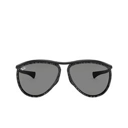 Ray-Ban® Aviator Sunglasses: Olympian Aviator RB2219 color Wrinkled Black On Black 1305B1.