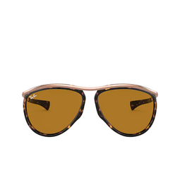 Ray-Ban® Aviator Sunglasses: Olympian Aviator RB2219 color Havana 130933.