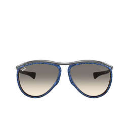 Ray-Ban® Aviator Sunglasses: Olympian Aviator RB2219 color Wrinkled Blue On Brown 131032.