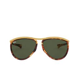 Ray-Ban® Aviator Sunglasses: Olympian Aviator RB2219 color Striped Havana 954/31.