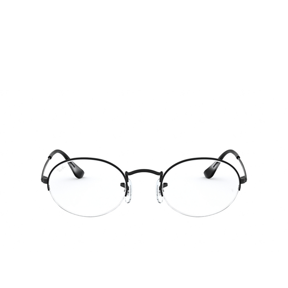 Ray-Ban® Oval Eyeglasses: Oval Gaze RX6547 color Matte Black 2503 - front view.