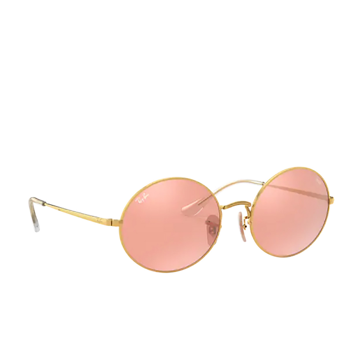 Ray-Ban® Oval Sunglasses: Oval RB1970 color Arista 001/3E - three-quarters view.