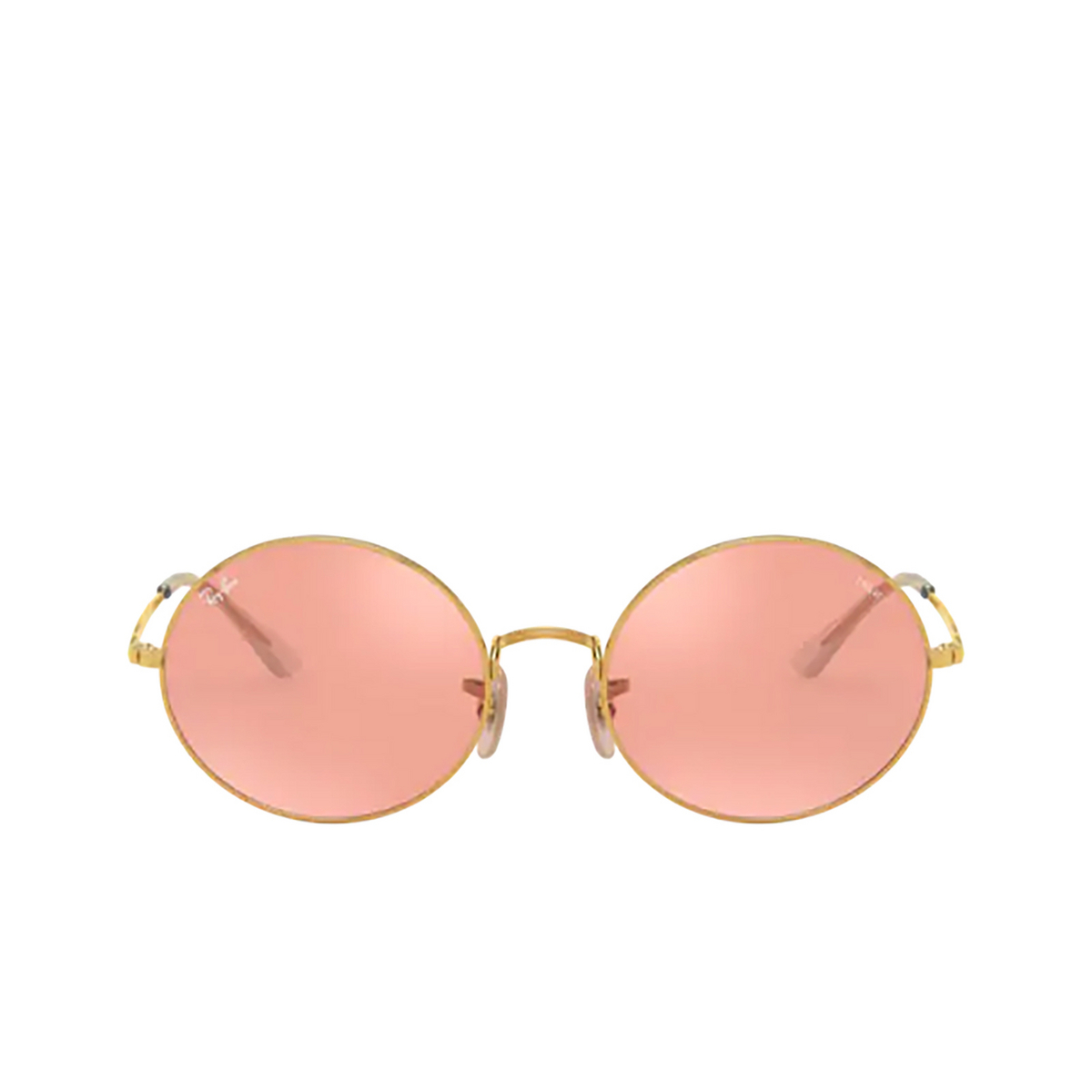 Ray-Ban® Oval Sunglasses: Oval RB1970 color Arista 001/3E - front view.