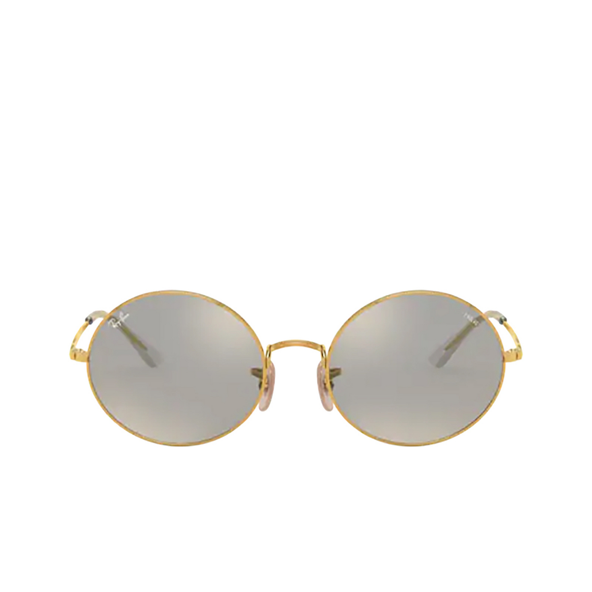 Ray-Ban® Oval Sunglasses: Oval RB1970 color Arista 001/B3 - front view.