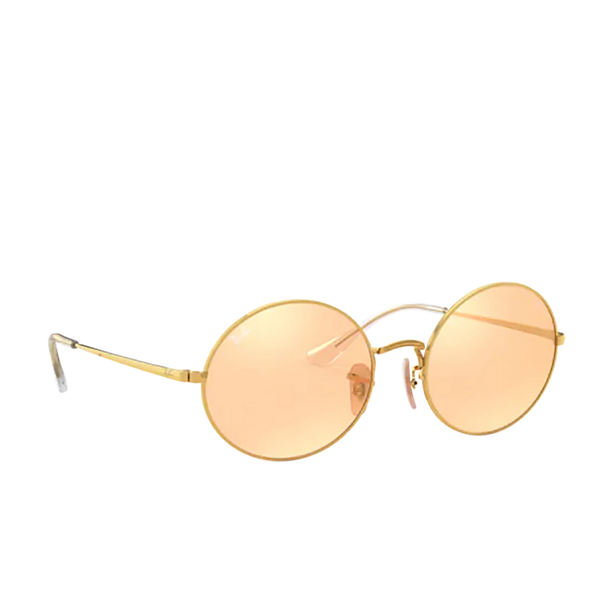 Ray-Ban® Oval Sunglasses: Oval RB1970 color Arista 001/B4 - three-quarters view.
