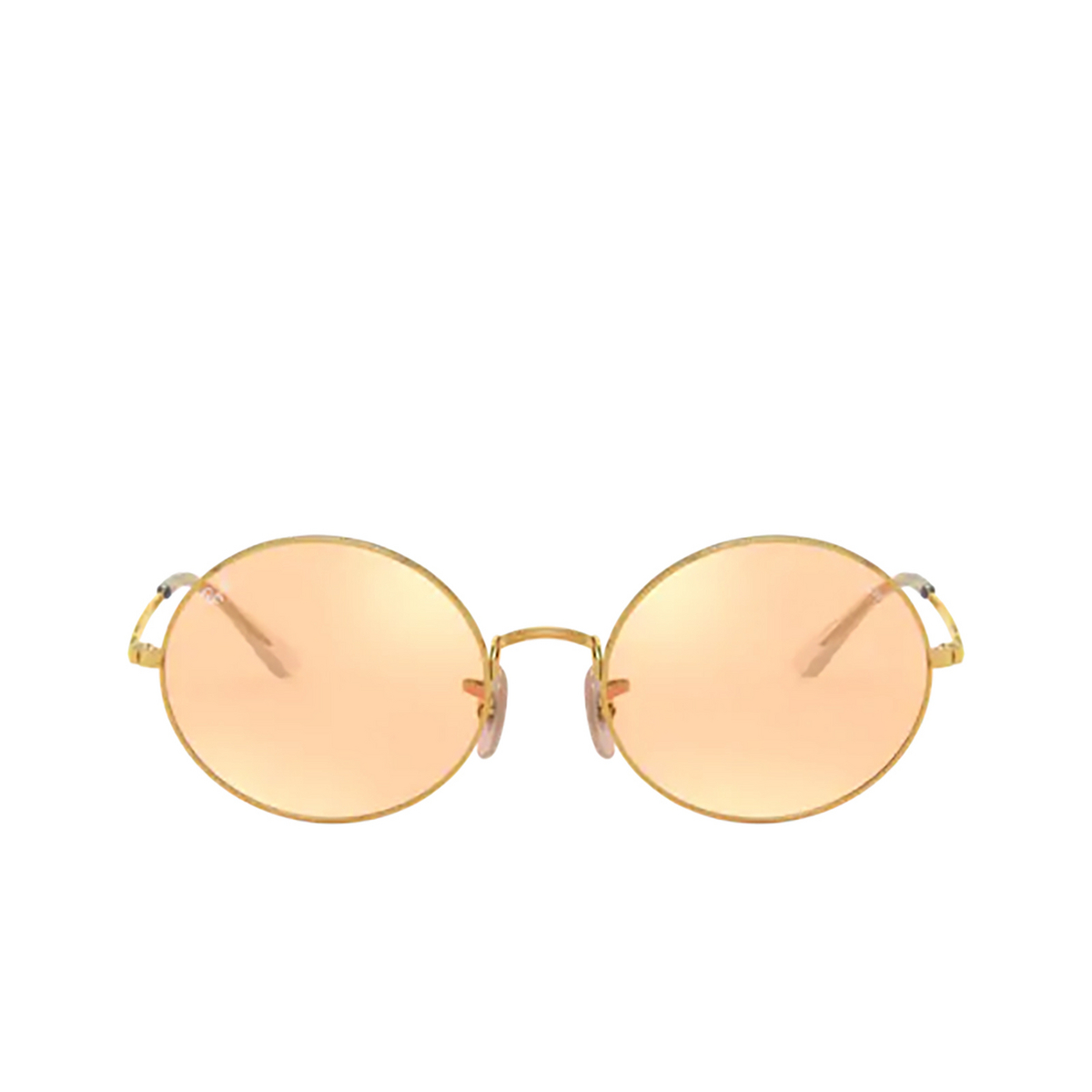 Ray-Ban® Oval Sunglasses: Oval RB1970 color Arista 001/B4 - front view.