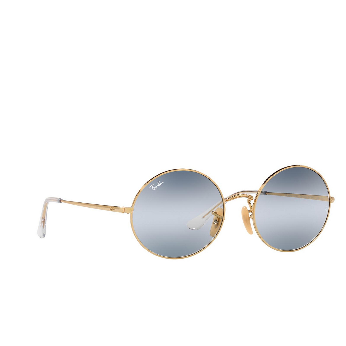 Ray-Ban® Oval Sunglasses: Oval RB1970 color Arista 001/GA - three-quarters view.