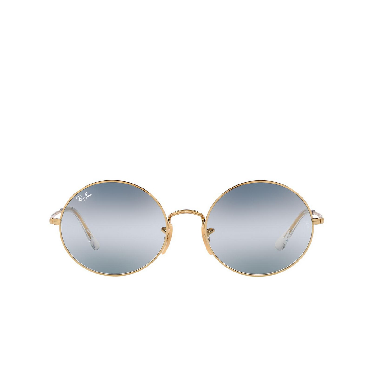 Ray-Ban® Oval Sunglasses: Oval RB1970 color Arista 001/GA - front view.