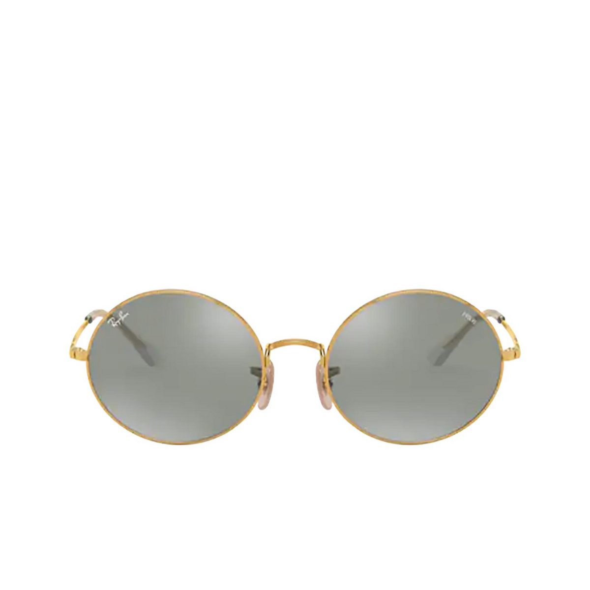 Ray-Ban® Oval Sunglasses: Oval RB1970 color Arista 001/W3 - front view.