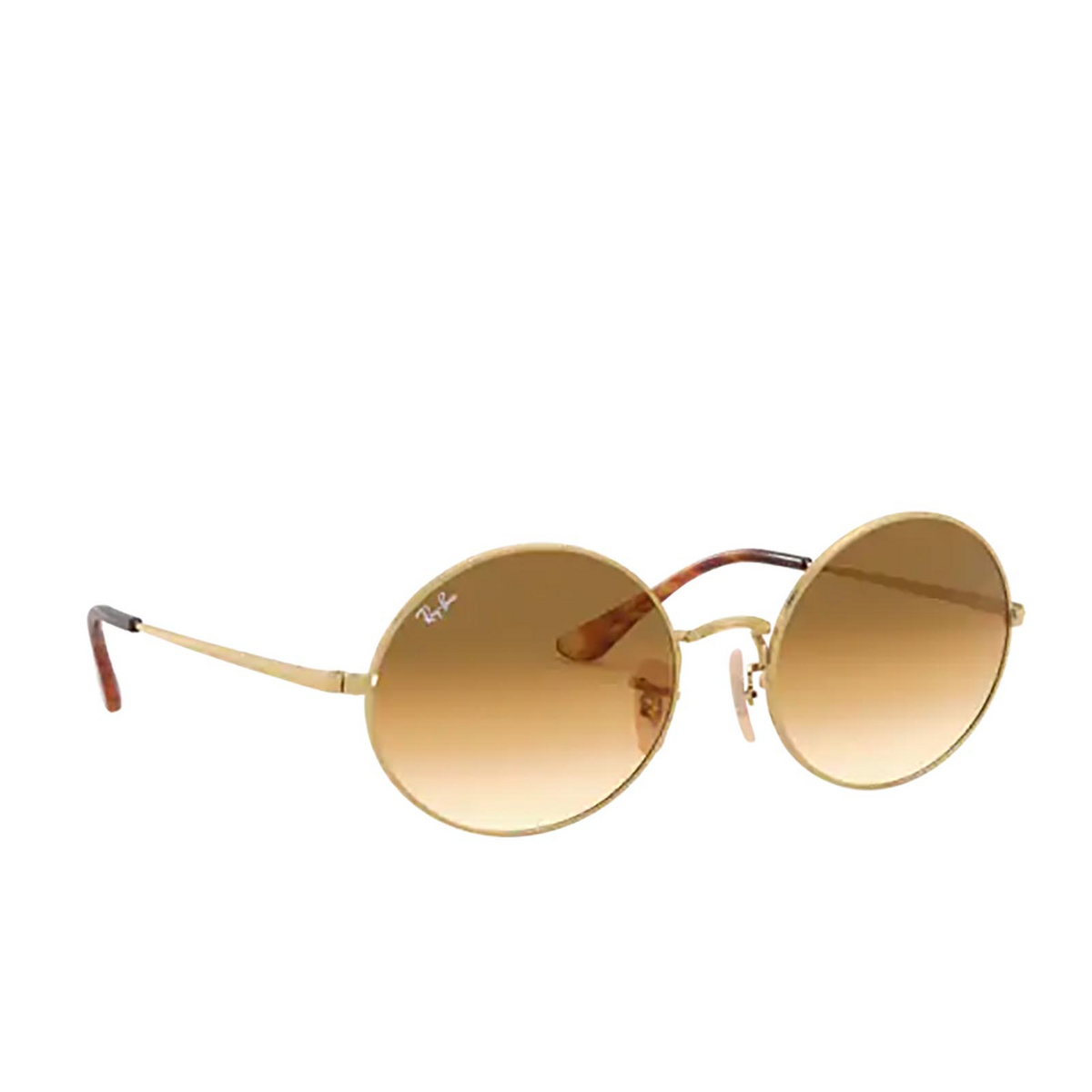 Ray-Ban® Oval Sunglasses: Oval RB1970 color Arista 914751 - three-quarters view.