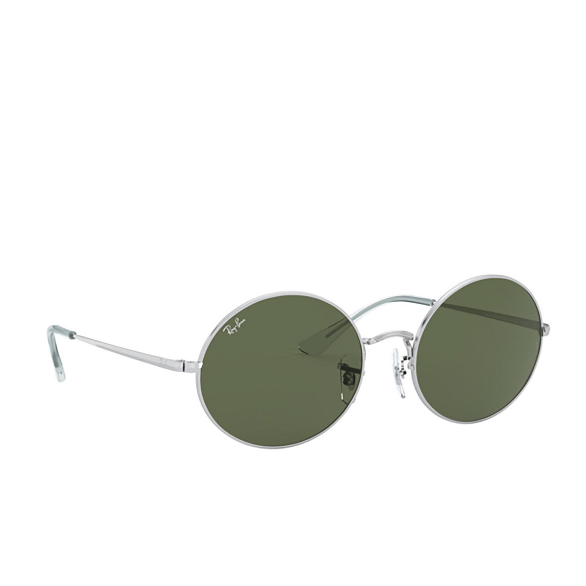 Ray-Ban® Oval Sunglasses: Oval RB1970 color Silver 914931 - three-quarters view.