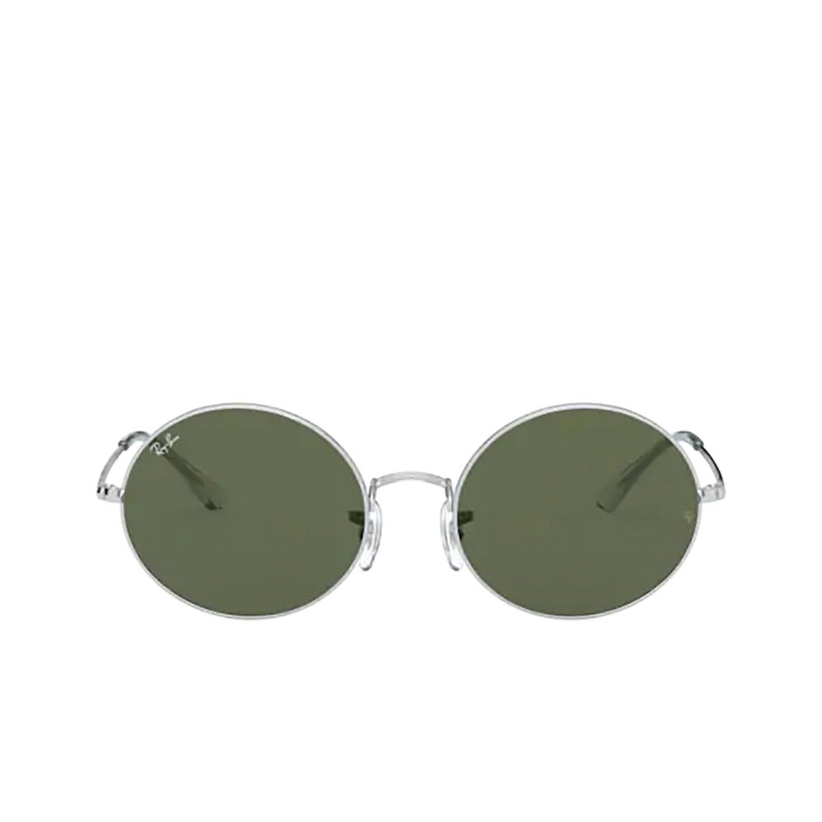 Ray-Ban® Oval Sunglasses: Oval RB1970 color Silver 914931 - front view.