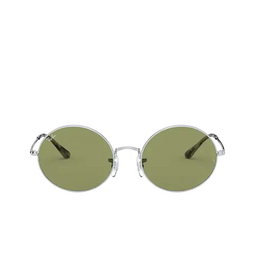 Ray-Ban® Oval Sunglasses: Oval RB1970 color Silver 91974E.