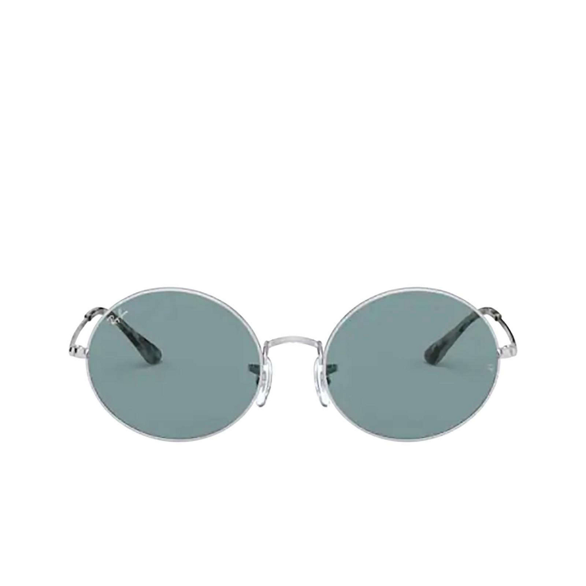 Ray-Ban® Oval Sunglasses: Oval RB1970 color Silver 919756 - front view.