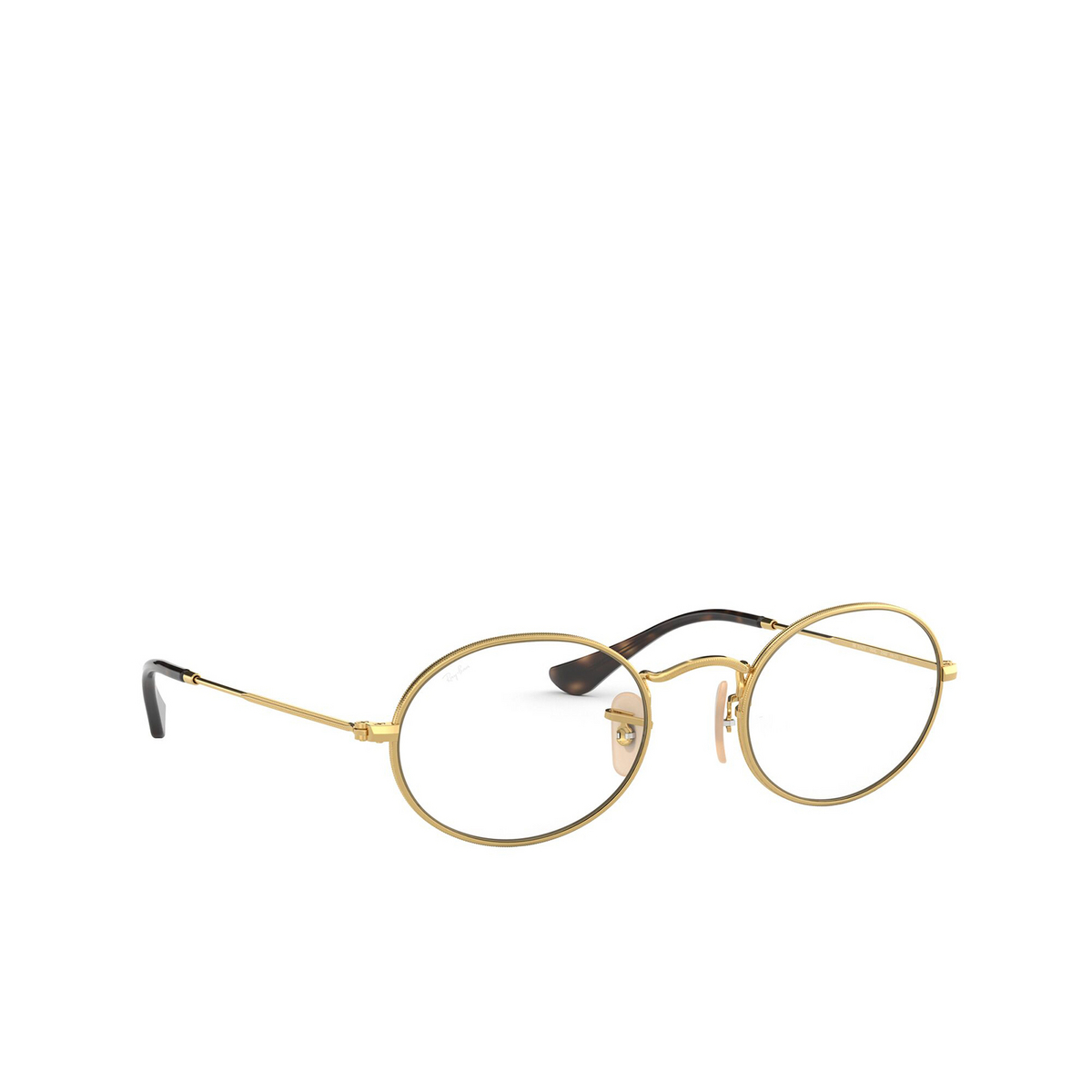 Ray-Ban® Oval Eyeglasses: Oval RX3547V color Arista 2500 - three-quarters view.