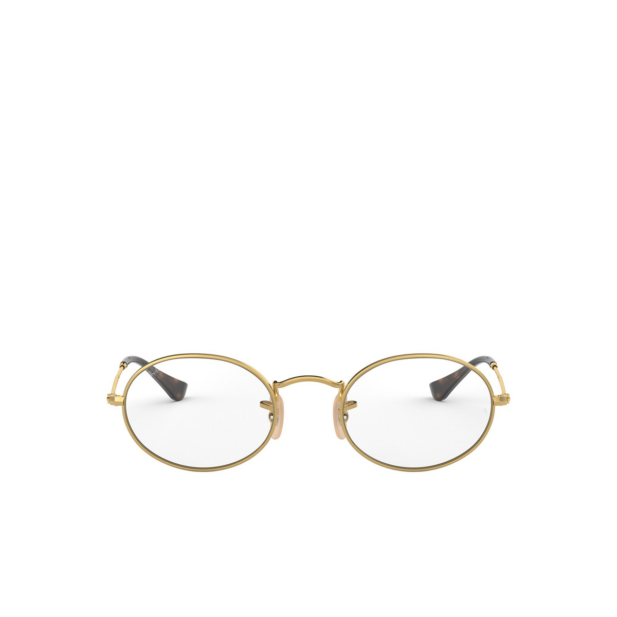 Ray-Ban® Oval Eyeglasses: Oval RX3547V color Arista 2500 - front view.