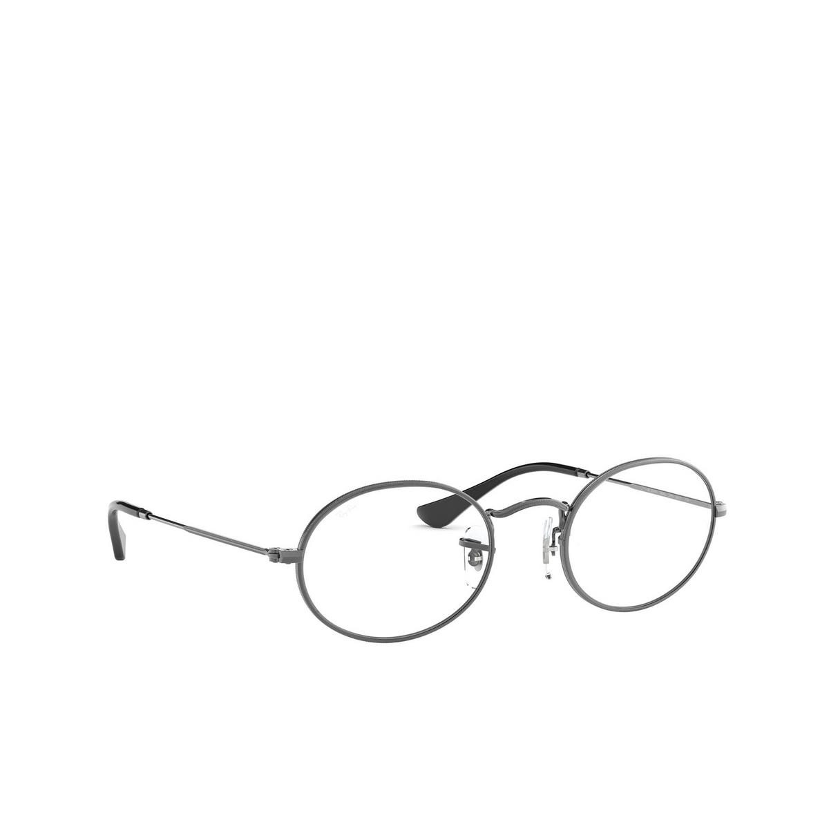Ray-Ban® Oval Eyeglasses: Oval RX3547V color Gunmetal 2502 - three-quarters view.