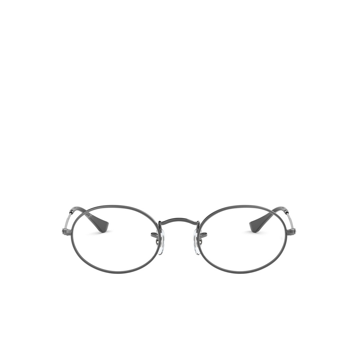 Ray-Ban® Oval Eyeglasses: Oval RX3547V color Gunmetal 2502 - front view.