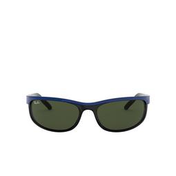 Ray-Ban® Rectangle Sunglasses: Predator 2 RB2027 color Top Blue On Black 6301.