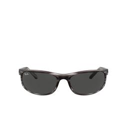 Ray-Ban® Rectangle Sunglasses: Predator 2 RB2027 color Striped Grey Havana 6430B1.