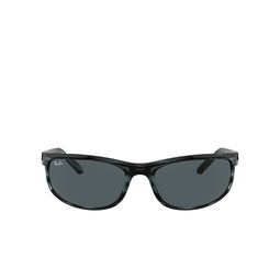 Ray-Ban® Rectangle Sunglasses: Predator 2 RB2027 color Striped Blue Havana 6432R5.