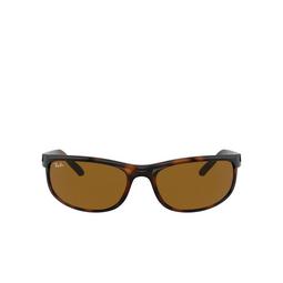 Ray-Ban® Rectangle Sunglasses: Predator 2 RB2027 color Dark Havana 650833.